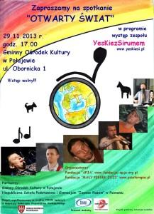 Plakat - Otwarty świat - spotkanie